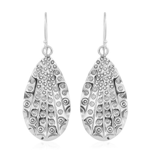 Designer Inspired Sterling Silver Hook Earrings, Silver wt 6.23 Gms.