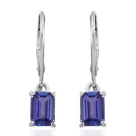 ILIANA 18K W Gold AAA Tanzanite (Oct) Lever Back Earrings 2.000 Ct.