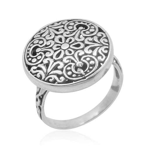 Royal Bali Collection Sterling Silver Floral Ring, Silver wt 4.77 Gms.