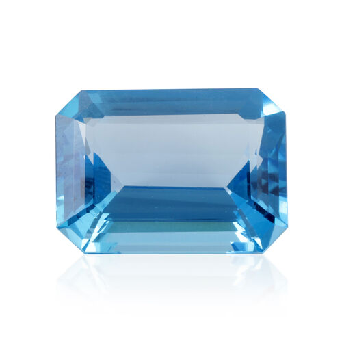 Electric Swiss Blue Topaz (Oct 20x15 mm Faceted 4A) 25.000 Ct.