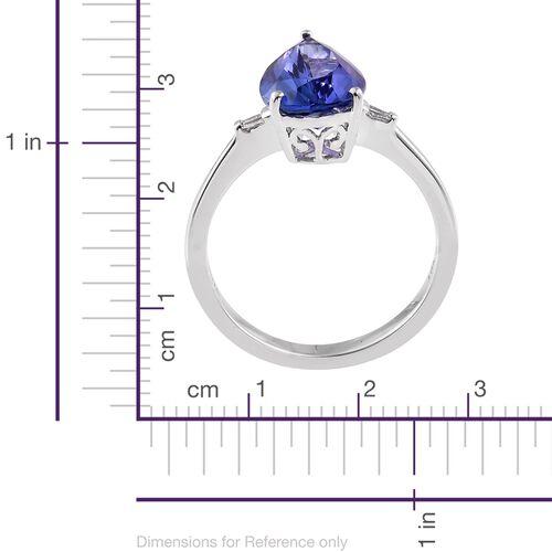 ILIANA 18K White Gold 2.95 Ct AAA Tanzanite, Diamond SI G-H Ring