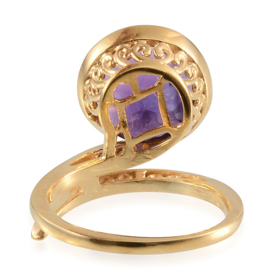 Platinum jewellery - Amethyst and Silver Solitaire Ring