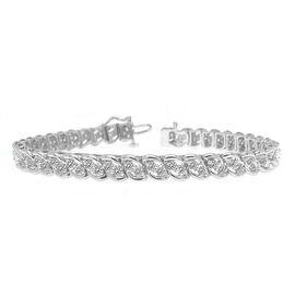 Limited Edition - 9K W Gold Diamond (Rnd) (I3/G-H) Bracelet (Size 7.5) 3.000 Ct. Gold wt 13.10 Gms.