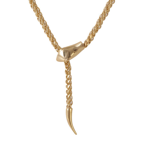 Designer Inspired-JCK Vegas Collection 9K Y Gold  Diamond Cut Serpente Necklace (Size 24), Gold wt 15.39 Gms.