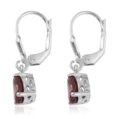 AA Umba River Zircon (Pear) Lever Back Earrings in Platinum Overlay Sterling Silver 2.000 Ct.