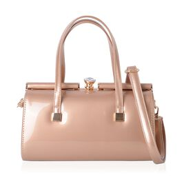 Champagne Colour Tote Bag with Shoulder Strap (Size 28x15x14 Cm)