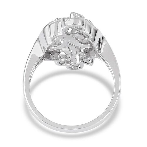 LucyQ Air Ring in Rhodium Plated Sterling Silver 6.94 Gms.