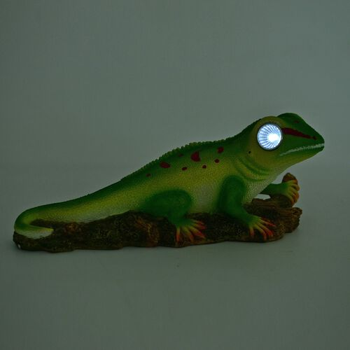 Green and Red Colour LED Solar Lizard (Size 29X12X10 Cm)