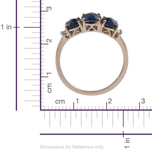 Checkerboard Cut 9K Y Gold Ceylon Colour Quartz (Ovl 1.45 Ct), Diamond Ring 3.500 Ct.