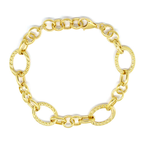 Designer Inspired- 9K Yellow Gold Bracelet (Size 7 with 1 inch Extender), Gold wt 6.47 Gms.