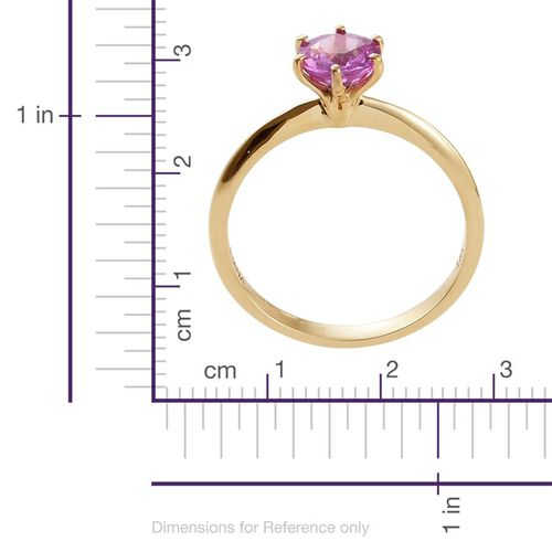 ILIANA 18K Yellow Gold Pink Sapphire (Rnd) Solitaire Ring 1.000 Ct.