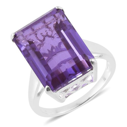 Lavender Alexite Quartz (Oct) Ring in Sterling Silver 15.000 Ct.