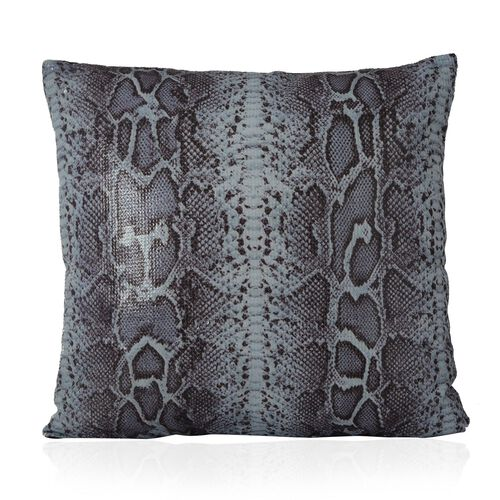 Multi Colour Snake Pattern Cushion (Size 43x43 Cm)