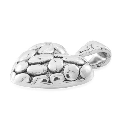 Thai Sterling Silver Pebble Heart Pendant, Silver wt. 5.44 Gms.