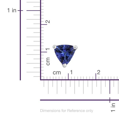 ILIANA 18K White Gold 1.25 Carat AAA Tanzanite (Trl) Stud Earrings (with Screw Back)