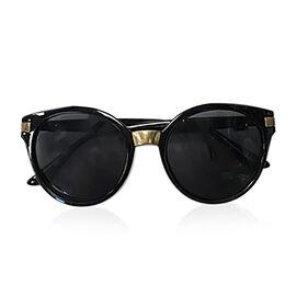 Round Retro Sunglasses- Black