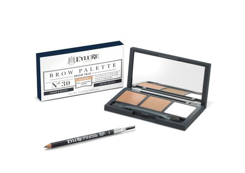 Eylure Brow Kit- Firm Brow Pencil Blonde and Eye Brow Palette Blonde