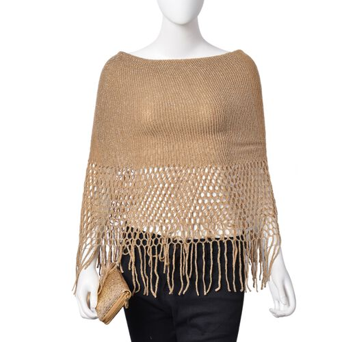 Golden Colour Scarf (Size 170x20 Cm) and Ladies Wallet