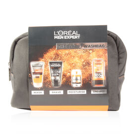 Loreal Men Expert - The Expert Wash Bag Gift Set - WAKE UP GEL 150ml SHAVE REVOLUTION 150ml ANTI-FATIGUE 50ml SHOWER GEL 300ml