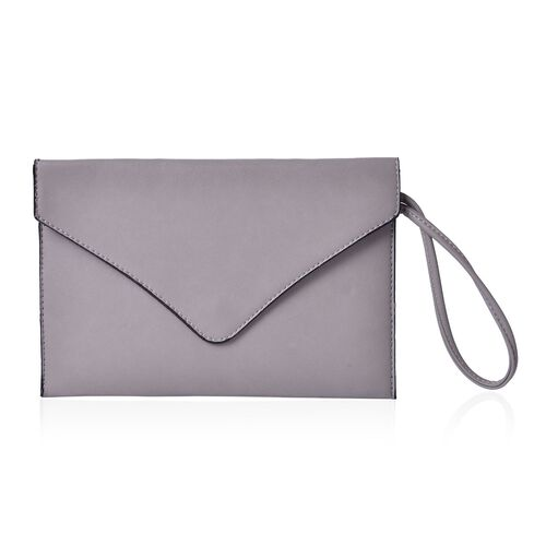 New Season YUAN COLLECTION Pale Grey Envelope Clutch / Travel Pouch(Size 25.5x17 Cm)