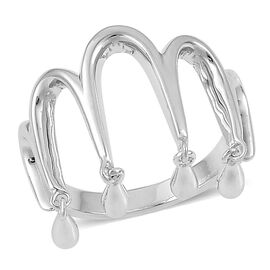 LucyQ Ring in Rhodium Plated Sterling Silver 3.95 Gms.