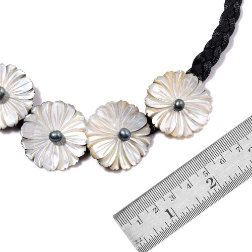 White Shell, Grey Shell and Fresh Water Peacock Pearl Necklace (Size 18)
