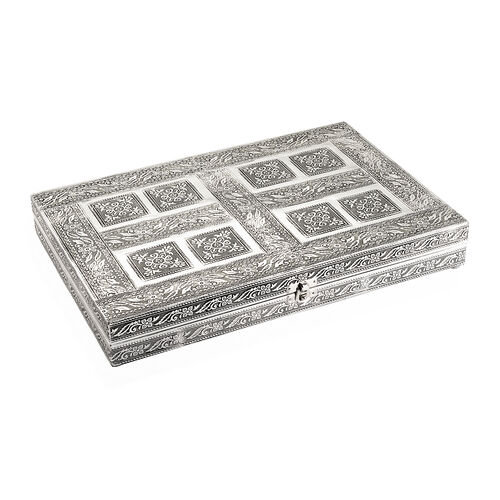 100 Ring Box with Floral Embossed On Top (Size 37x25 Cm)