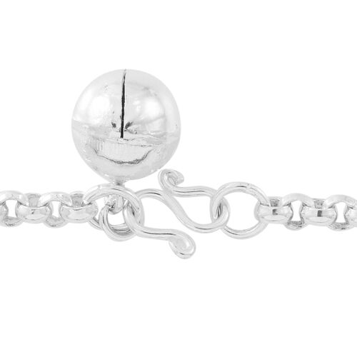 One Time Deal- ELANZA AAA Simulated Multi Colour Diamond (Rnd) Bracelet (Size 8) in Sterling Silver