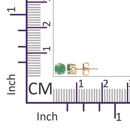 0.75 Ct AA Kagem Zambian Emerald Stud Earrings in 9K Gold (with Push Back)