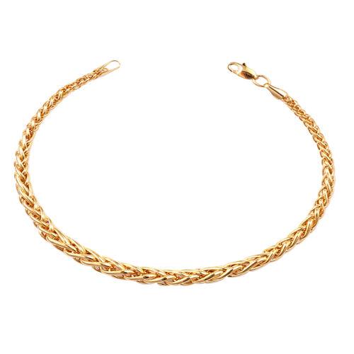 JCK Vegas Collection 9K Yellow Gold Graduated Spiga Bracelet (Size 8), Gold wt 4.53 Gms.