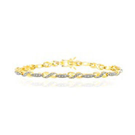 (Option 1) JCK Vegas Diamond (Rnd) Bracelet (Size 7.5) in Gold Bond