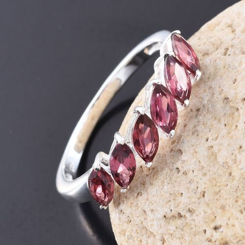 Rhodolite Garnet (Mrq) Ring in Sterling Silver 1.500 Ct.