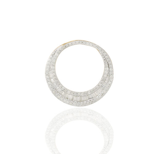 9K Y Gold SGL Certified Diamond (Bgt) (I 3/G-H) Pendant 1.000 Ct.