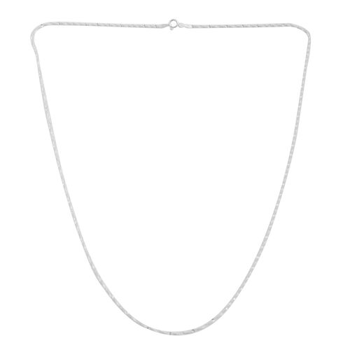 Vicenza Collection - Sterling Silver Twisted Herringbone Chain (Size 24), Silver wt 3.00 Gms.