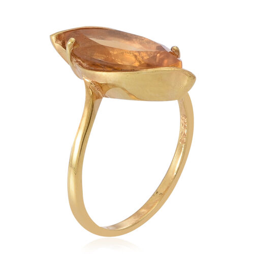 Citrine (Mrq) Solitaire Ring in 14K Yellow Gold Overlay Sterling Silver 2.000 Ct.