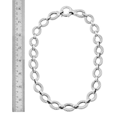 Statement Collection Sterling Silver Link Necklace (Size 20), Silver wt 60.01 Gms.