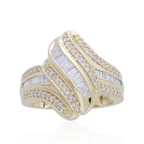 9K Y Gold SGL Certified Diamond (Bgt) (I3/ G-H) Ring 0.500 Ct.
