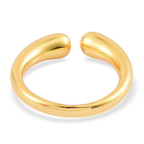 LucyQ Double Drip Ring in Yellow Gold Overlay Sterling Silver 5.46 Gms.
