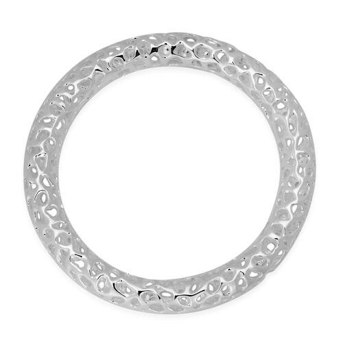 RACHEL GALLEY Sterling Silver Allegro Bangle (Size 7 / Small), Silver wt 31.00 Gms.