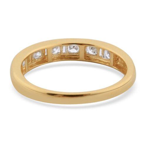 ILIANA 18K Y Gold IGI Ceritfied Diamond (Rnd) (VS-SI/G-H) Half Eternity Band Ring 0.500 Ct.