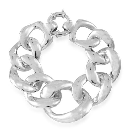 Vicenza Collection-Sterling Silver Curb Bracelet (Size 8), Silver wt. 36.08 Gms.