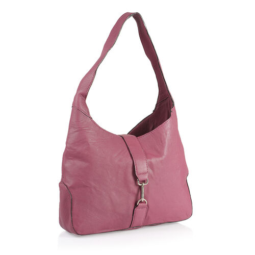 100% Genuine Leather RFID Rose Colour Bag (Size 38X24X8 Cm)