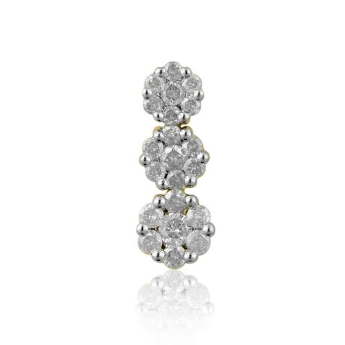 9K Y Gold SGL Certified Diamond (Rnd) (I3/G-H) Pendant 1.000 Ct.