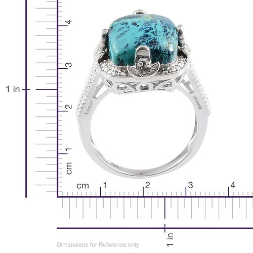 Table Mountain Shadowkite (Cush 9.25 Ct), Diamond Ring in Platinum Overlay Sterling Silver 9.270 Ct.