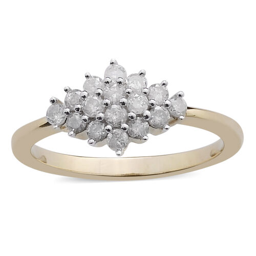 9K Y Gold SGL Certified Diamond (Rnd) (I3/ G-H) Ring 0.500 Ct.