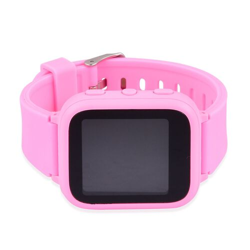 SMART Watch for Kids Supported by Free App. (with GPS Tracking, Calling, Texting, e- Fencing, Contact Book Features) - Colour Pink