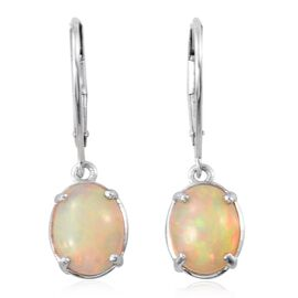 ILIANA 18K White Gold 2.50 Carat AAA Ethiopian Welo Opal Lever Back Earrings