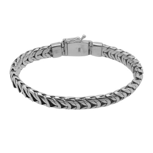 Royal Bali Collection Sterling Silver Bracelet (Size 8), Silver wt 50.50 Gms.