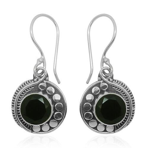 Boi Ploi Black Spinel (Rnd) Hook Earrings in Sterling Silver 6.820 Ct.
