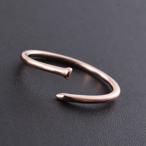 Silver Nail Ring in Rose Gold Overlay